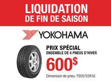 Promotion pneus d'hiver Yokohama pour Nissan Sentra
