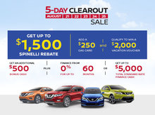 The Nissan 5-Day Clearout Sale