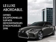 Grande vente de démonstrateurs et de Lexus 2018