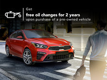 Get free oil changes for 2 years