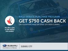 Subaru City's Rally Rebate Program