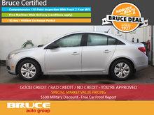 2012 Chevrolet Cruze LS 1.8L 4 CYL 6 SPD MANUAL FWD 4D SEDAN