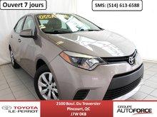 Toyota Corolla LE CVT, A/C, SIÈGES CHAUF, CAM RECUL, BLUETOOTH 2014