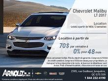 La Chevrolet Malibu 2017 en rabais!