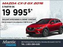 La Mazda CX-3 2016  en rabais!