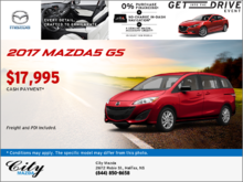 Get the 2017 Mazda5 GS Today!
