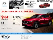 Save on the 2017 Mazda CX-5 GX