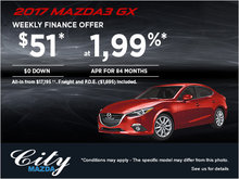 Drive Home the 2017 Mazda3 GX Now!
