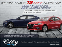 Save on all our 2016 Mazda3 models!