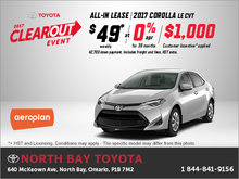 Get the All-New 2017 Toyota Corolla Today!