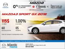 Mazda3 Sport GX 2018 en rabais!