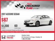 Lease the 2017 Honda Accord!