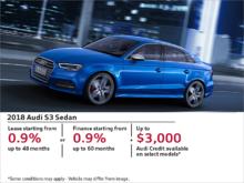 Get the Audi S3 Sedan Today!