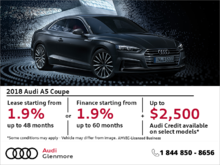 Get the 2018 Audi A5 today!
