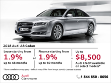 Get the Audi A8 today!