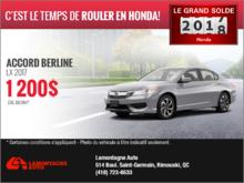 Obtenez la Honda Accord 2017!