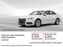 Drive the brand new 2018 Audi A4 sedan!