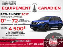 Obtenez le Nissan Pathfinder 2017 aujourd'hui!