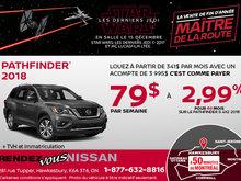 Nissan Pathfinder 2018 en rabais!