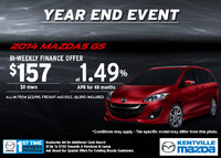 Mazda - Lease the 2014 Mazda5 GS for only $157