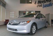 Honda Civic Sdn DX**BAS KILO,5 VIT.,IMPECCABLE** 2012