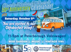 Join us for Peterborough Volkswagen's 50th anniversary