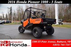 2016 Honda Pioneer 1000 3 seats