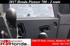 2017 Honda Pioneer 700 Deluxe