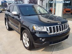 2013 Jeep Grand Cherokee Overland,LEATHER,SUNROOF,NAVIGATION,3.6 LITRE,4X4,LOCAL TRADE, A BLACK BEAUTY!!!!
