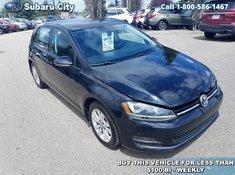 2015 Volkswagen Golf SUNROOF,ALUMINUM WHEELS,AIR,TILT,CRUISE,PW,PL,MANUAL,LOCAL TRADE,CLEAN CARPROOF!!!!!