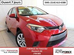 Toyota Corolla LE CVT, A/C, SIÈGES CHAUF, CAM RECUL, BLUETOOTH 2015