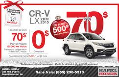 Louez la Honda CR-V LX 2015 à partir de 70$ par semaine