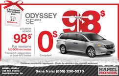 Louez une Honda Odyssey SE 2015 à compter de 98$ par semaine