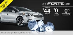 2015 Kia Forte LX MT - Own it for $44!