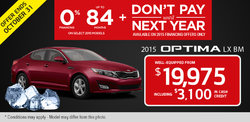 The 2015 Kia Optima - Get it well-equipped from $22,995!