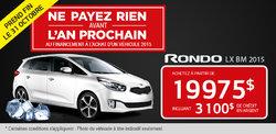 Achetez le Kia Rondo LX BM 2015 à 19 975$