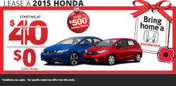Bring Home a Honda today!