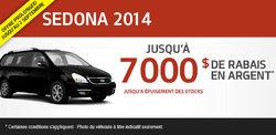 Liquidation du Kia Sedona 2014 avec 7000$ de rabais