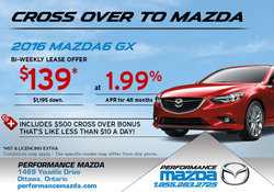 Lease the all-new 2016 Mazda6 from $139!