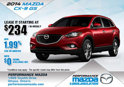 Lease the 2014 Mazda CX-9 GS from $234