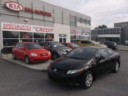 Honda Civic Cpe 2012 LX TOUT ÉQUIPÉ!! A/C, RÉGULATEUR DE VITESSE, BLUETOOTH!!