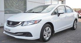 2013 Honda Civic Sdn LX  AC USB AUX  BLUETOOTH MANUELLE