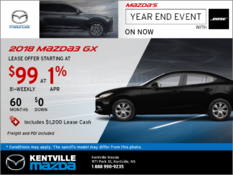 Mazda - Save on the All-New 2018 Mazda3 GX Today!