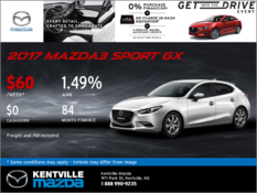 Mazda - 2017 Mazda3 Sport GX -- Drive it Home Today!