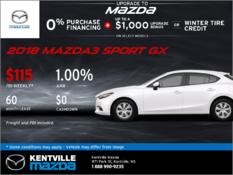 Mazda - 2018 Mazda3 Sport GX -- Drive it Home Today!