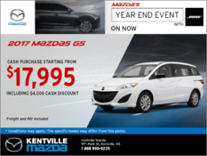 Mazda - Save Big on the 2017 Mazda5 GS Today!