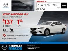 Mazda - Get the 2017 Mazda6 GX Today!