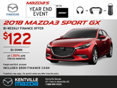 Mazda - Save on the 2018 Mazda3 Sport Today!