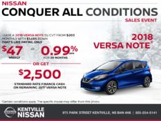 Nissan - 2018 Versa Note
