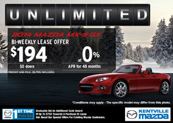 Mazda - Lease the 2014 Mazda MX-5 GX for only $194